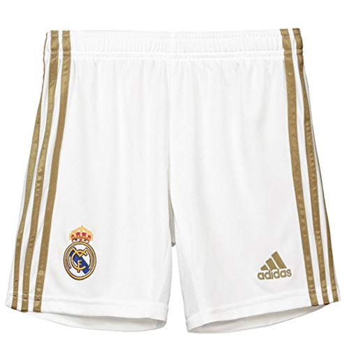 (adidas 2019-2020 Real Madrid Home Shorts (White) - Kids)