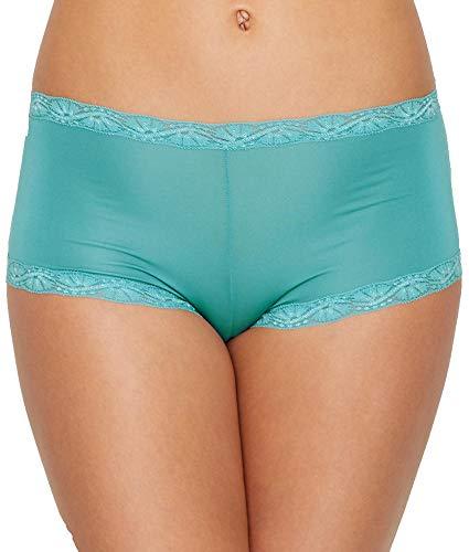 Shorts Microfiber Lace (Maidenform Women's Microfiber Lace Boyshort Panty, Riviera Jade, 7)