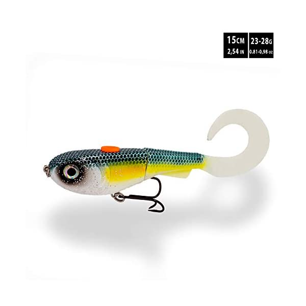 pike fishing soft bait 6 inch curly tail swimbait