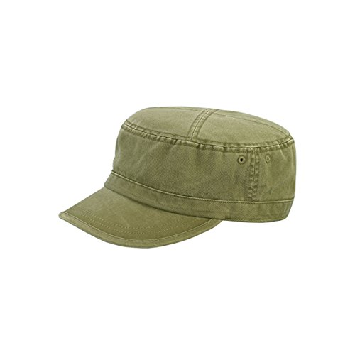 MG Enzyme Washed Cotton Twill - Fidel Hat Army