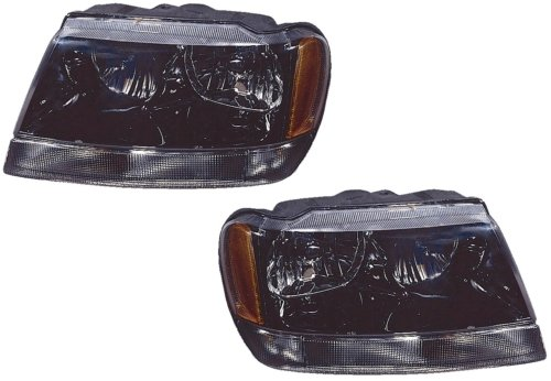 Jeep Grand Cherokee Laredo Sport 02 03 Head Light Pair