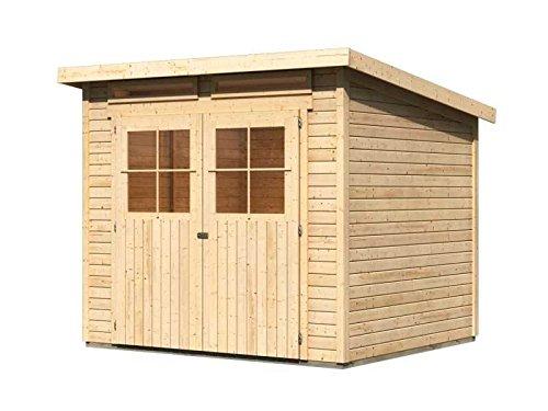 karibu gartenhaus verona 4 natur sparset mit fu boden und selbstklebender dachbahn au enma b x. Black Bedroom Furniture Sets. Home Design Ideas