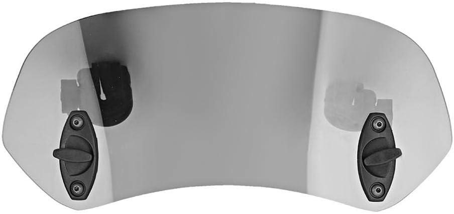Suuonee Motorrad Windschutzscheibe Universell Verstellbarer Clip On Windschutzscheibe Windabweiser Windschutzscheibe Zubehör Für Motorrad Tawny Auto