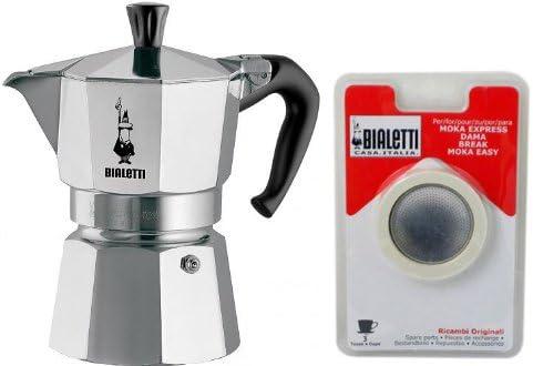 Bialetti – 0001162 – Cafetera Italiana 3 Tazas Moka Express ...