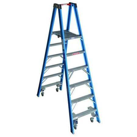 Twin Platform Stepladder, 6 ft, FGL, 250 lb - Twin Platform Step Ladder