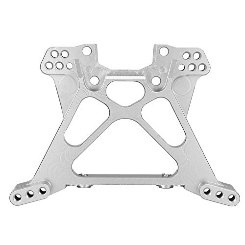 (RC Car Rear Shock Tower, Aluminium Alloy RC Rear Shock Tower for Traxxas Slash 4X4 1/10 Truck RC Car Replacement Upgrade Part Accessory (Silver))
