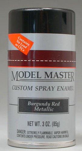 Testors Model Master Automotive Enamel Burgundy Red Metallic Spray ()