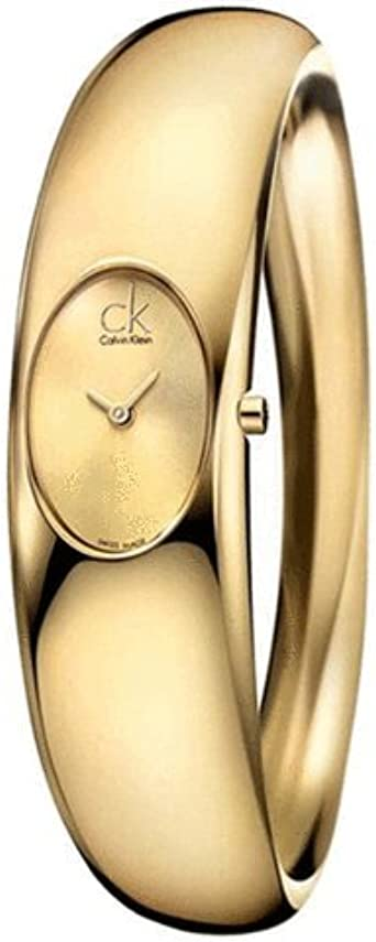 ck Calvin Klein Reloj Mod. Exquisito m IP Oro Pulsera Ip Oro Dial, Ref: ck1y22209