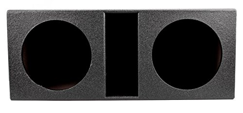 Q Power QBOMB12VL Dual 12-Inch SPL Vented Speaker Box with Durable Bed Liner Spray by Q Power (Image #1)