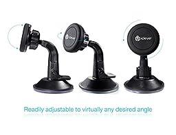 iClever Car Mount Magnet Phone Holder Universal Windshield Dashboard Car Cradle Black