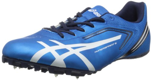 ASICS Men's Hypersprint 5 Track Shoe,Blue/White/Black,8.5...