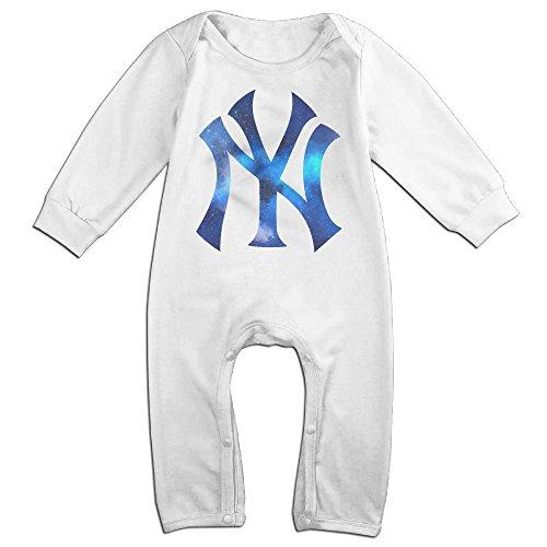 Hotboy19 Babys New York Sport Baseball Logo Girls/Boys Bodysuits Long Sleeve White Size 12 Months