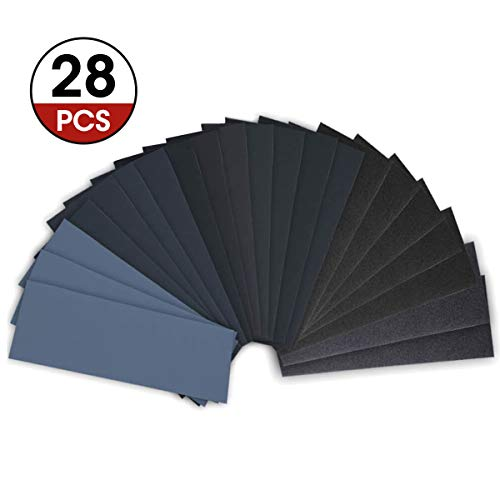 28 Piece 120 to 3000 Grit Wet Dry