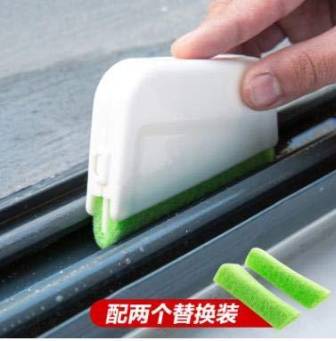 SimpleLife Spazzola Spazzola per Porte e scanalature Spazzola per cucine e bagni Spazzola per Fessure Finestra di Pulizia Strumento Verde