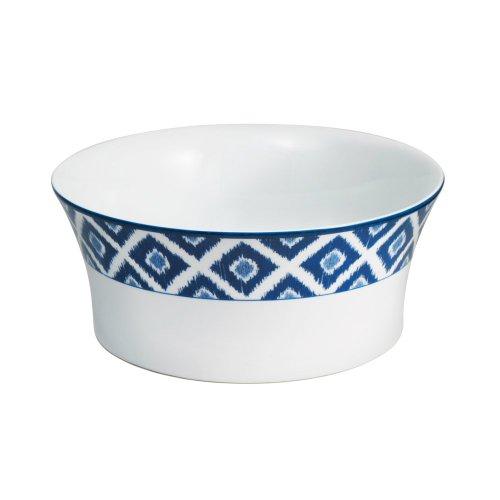 Mikasa Round Vegetable Bowl (Mikasa Ikat Blue Round Vegetable Bowl,)