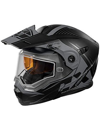 Castle X CX950 Focus Modular Snowmobile Helmet (LRG, Matte Black/Gray)