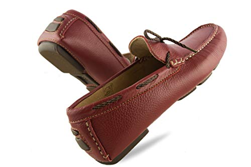 Náuticos Verano Piel Mocasines 50 Hombre Hombre Náuticos Hombre para 46 Zerimar Náuticos Rojo Hombre Zapatos Grandes de Tallas Xxqwnf0