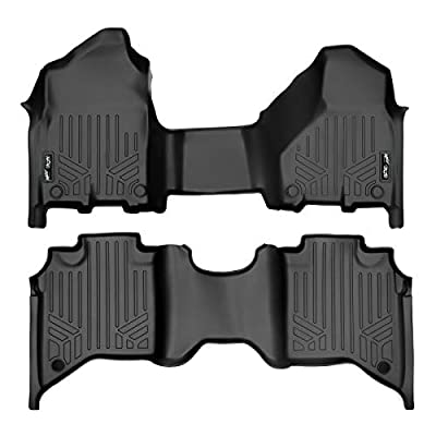 SMARTLINER Custom Floor Mats Set (Both Rows 1pc) Black for 2020-2020 Ram 2500/3500 Crew Cab with 1st Row Bench Seat: Automotive