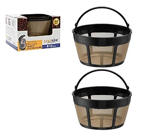 GoldTone Brand Reusable 8-12 Cup Basket Coffee Filter fits Hamilton Beach Coffee Makers and Brewers. Replaces your Hamilton Beach Reusable Coffee Filter - BPA Free (2 Pack) ()