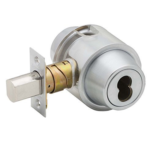 Schlage B560BD 626 (SFIC) Series B500 Grade 2 Deadbolt Lock, Single Cylinder Function, Small Format Interchangeable Core, Satin Chrome Finish