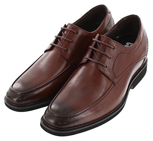 Calden–k312327–2,6pollici Taller–Altezza aumentare ascensore scarpe con lacci in pelle, colore: marrone scuro