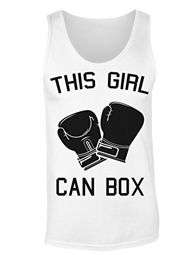 This Girl Can Box Boxing Gloves T-shirt senza maniche per Donne Shirt