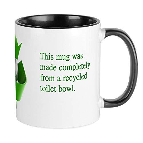 CafePress Funny Recycled Toilet Bowl Mug Unique Coffee Mug, Coffee Cup (Coffee Mug Recycle)
