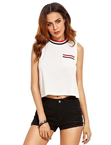 MakeMeChic Womens Casual Pocket Sleeveless product image