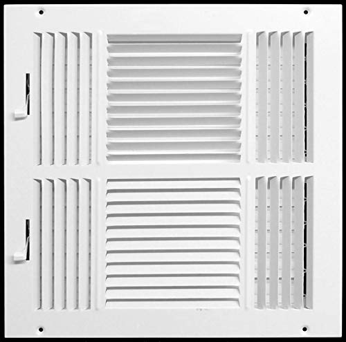 12 x 12 4-WAY SUPPLY GRILLE - DUCT COVER & DIFUSER - Flat Stamped Face