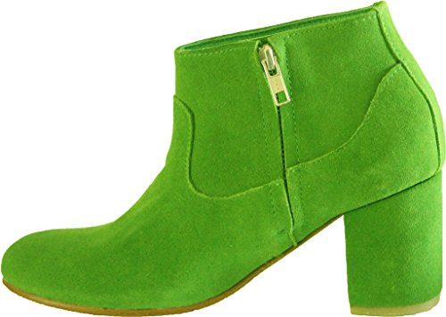 11sunshop EU 33 HGilliane Model Killiam to Design Green Leather and Ankle Boots 44 Suede RzxwBR