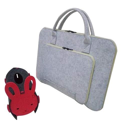 - Value-5-Star - Felt Universal Laptop Bag Notebook Case Briefcase Handlebag Pouch For Macbook Air Pro Retina 13-14 Inch Men Women