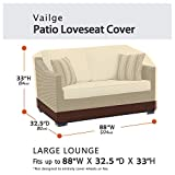 Vailge Heavy Duty Patio Sofa Cover, 100% Waterproof