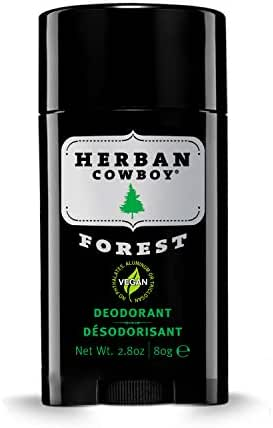 Herban Cowboy Men's Deodorant, Forest, 2.8 Ounce