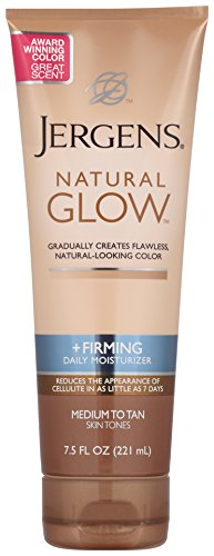 Jergens Natural Glow Firming Daily Moisturizer, Medium to Ta