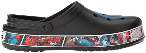Crocs Unisex Adults' Cb Captain America Clog Black/Blue Jean 6BYeZwu