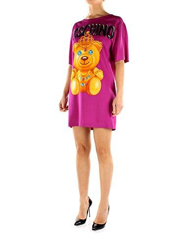 Kleider Rayon Damen Fuchsie V04510565 Moschino Kurze Pdp6qP