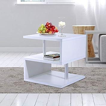 Amazon.com: Mesa auxiliar de 3 niveles en forma de S, ahorro ...