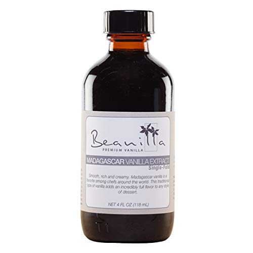 Madagascar Vanilla Extract (Single-Fold) - 4 fl oz