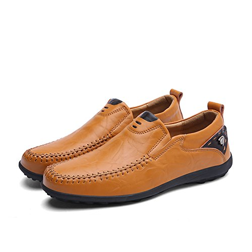 En Sommar Mens Slip-on Business Casual Läder Loafers Gul