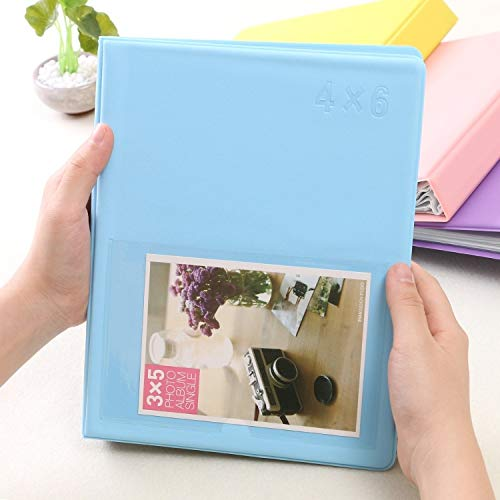 Büro DIY Kreativitätseinsatz Typ RosayFarbe Exquisite Familien-Fotoalbum 6 Zoll (Großauswahl   Blau)