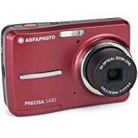AGFAPHOTO Precisa 1430 1430RD 14.1 MP Digital Camera with 3x Optical Zoom 2.4-Inch Auto Brightness LCD (Red)