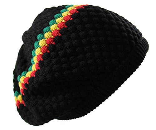 RW Men's Cotton Rasta Beanie - Jamaican Tam