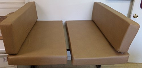 Cushion Booth (RV Trailer Dinette Booth Bench Seat Cushion Covers Wells Sand(Covers Only)(New) (38