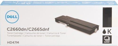Dell V4TG6 Toner Cartridge C2660dn//C2665dnf Color Laser Printer,Black