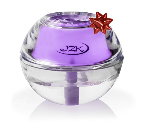 Air Humidifier for Home, Room, Office, Bedroom, Travel, Desk, Table, Nightstand | Mini Portable Personal Diffuser with Lavender Night Light by JZK with Auto Shut-off, USB Cable, Adapter, Filter