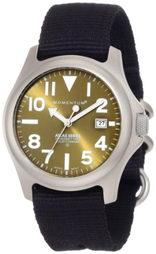 Momentum Men's 1M-SP00G8B Atlas Green Dial Re-Ply Nylon Strap Watch