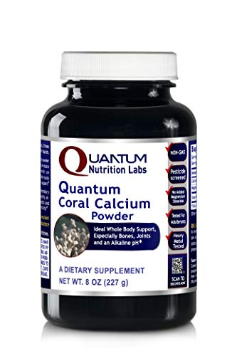 Quantum Coral Calcium Powder, 8oz (175 servings) Ideal Whole Body Support, especially for the Bones, Joints, Teeth and an Alkaline pH