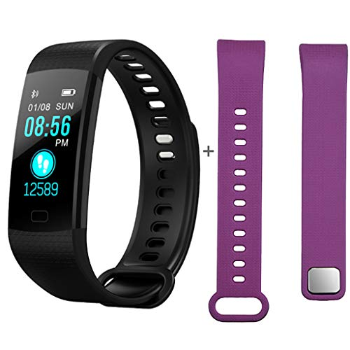 Smart Watch for Android Phones,TADAMI Fitness Calorie Wristband Bluetooth Touch Screen Smart Watch Wear Calories Burnt Sleep Monitor View Weekly Health Report Blood Pressure Watch + Strap (Best Health Wristbands 2019)