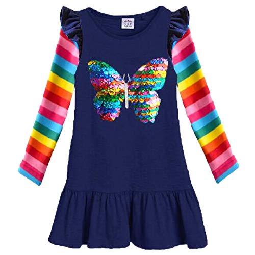VIKITA 2018 Toddler Girls Dresses Long Sleeve Girl Dress for Kids 3-8 Years LH5880, 6T