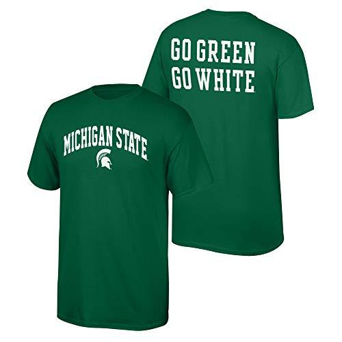 Michigan State Green - Elite Fan Shop NCAA Men's Michigan State Spartans T Shirt Team Color Back Michigan State Spartans Green Medium